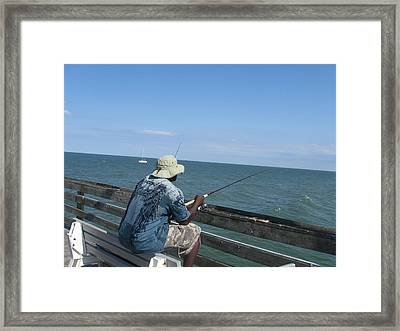 Sitting On Top Of The World Framed Print by Paula Andrea Pyle