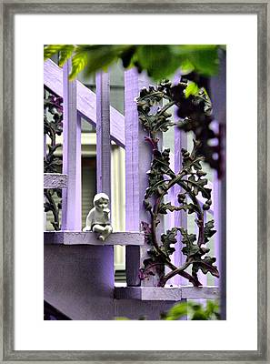 Framed Print featuring the digital art Sitting Pretty by Brian Davis
