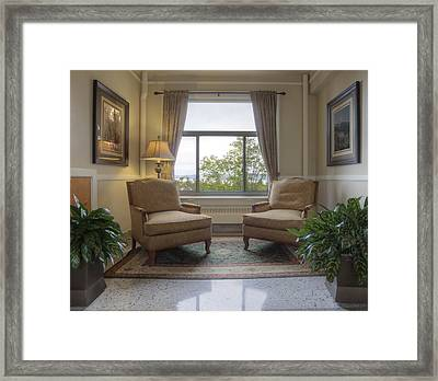 Sitting Room 1927 Lodge.  Dating Framed Print by Douglas Orton