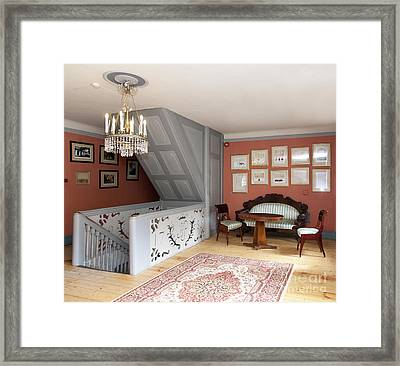 Sitting Room With Framed History Framed Print