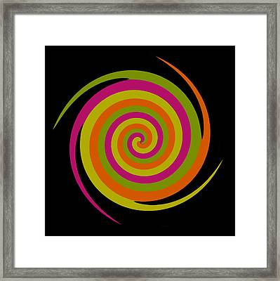 Framed Print featuring the photograph Six Squared With A Twirl by Steve Purnell