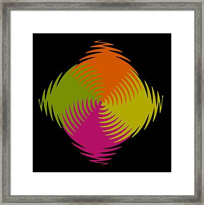 Framed Print featuring the photograph Six Squared Zigzag by Steve Purnell