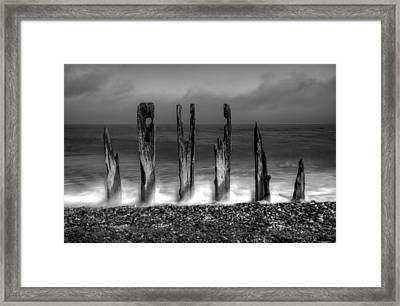 Six Sticks Framed Print by Mark Leader