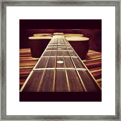 Six String.. #lordrul #guitar #strings Framed Print