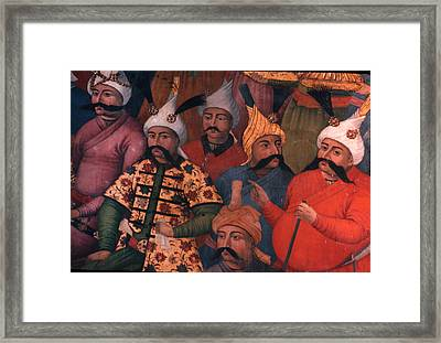 Six Sultans In Iran Framed Print by Carl Purcell