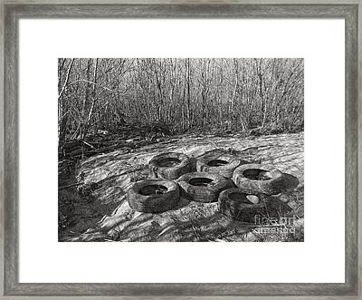 Six Tires Framed Print