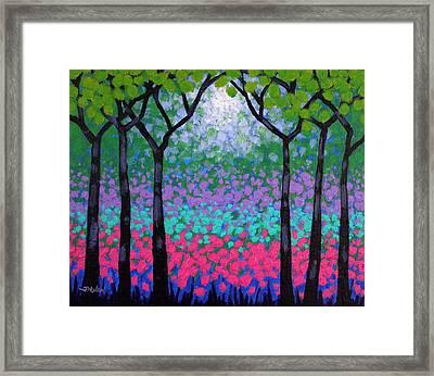 Six Trees Framed Print