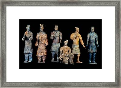 Six Types Of Soldiers Were Found Among Framed Print by O. Louis Mazzatenta