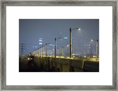 Sixth Street Fog Framed Print by Kevin  Break