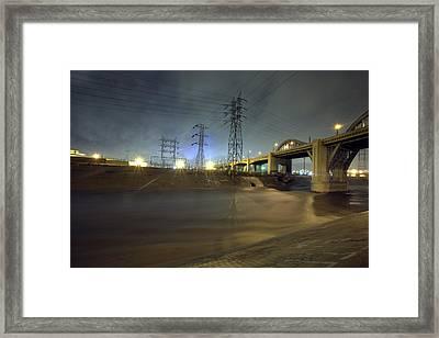 Sixth Street Storm Framed Print by Kevin  Break