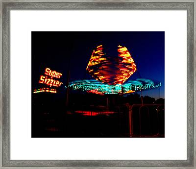 Sizzler Framed Print by Jessica Duede