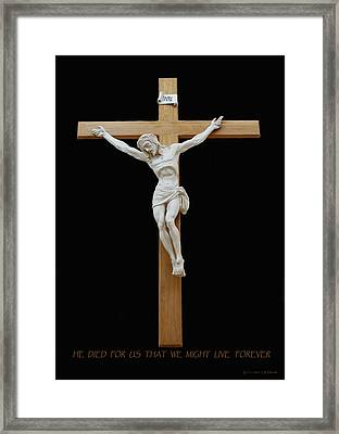 Sjncc Crucifix 1 Two K Eleven Framed Print by Carl Deaville