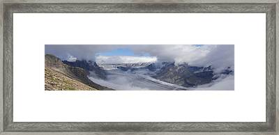 Framed Print featuring the photograph Skaftafell Panorama by Rudi Prott
