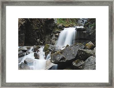 Skagway Waterfall 8619 Framed Print by Michael Peychich