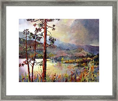 Skaha Pines Framed Print