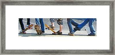 Skate Feet Framed Print by Joan Powell