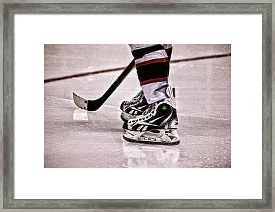 Skate Reflection Framed Print by Karol Livote