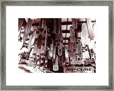 Skate Shop Framed Print by Jame Hayes