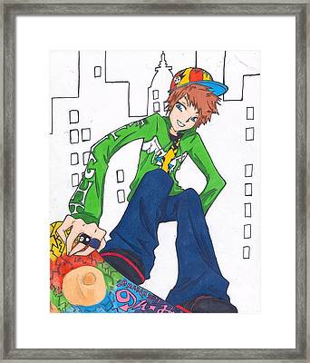 Skateboard Framed Print by Noemi Oblio