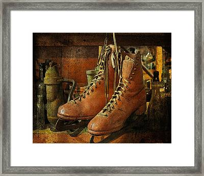 Framed Print featuring the photograph Skates by Karen Lynch