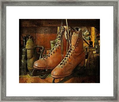 Skates Framed Print by Karen Lynch