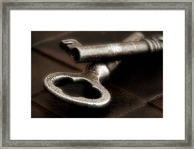 Skeleton Keys Still Life Framed Print by Tom Mc Nemar
