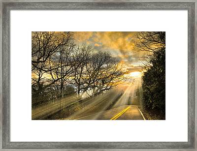 Skeletons At Sunset Framed Print