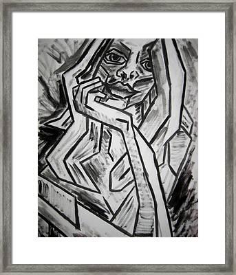 Sketch - Intrigued Framed Print by Kamil Swiatek