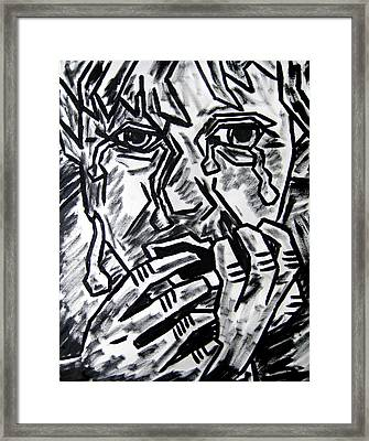 Sketch - Weeping Child Framed Print by Kamil Swiatek