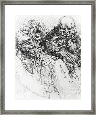 Sketch After Leonardo Framed Print by Mack Galixtar