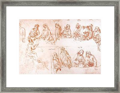 Sketch For The Last Supper Framed Print by Sheila Terry