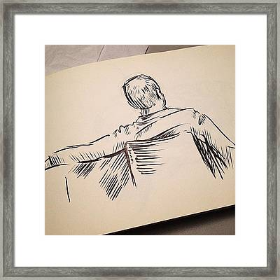 #sketch Of A #man Framed Print