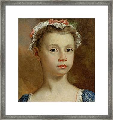 Sketch Of A Young Girl Framed Print by Joseph Highmore