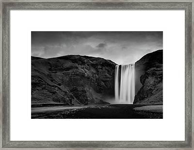 Skógafoss Waterfall Framed Print by Mark Voce Photography