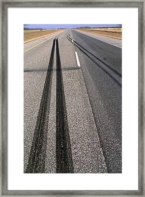 Skid Marks Framed Print