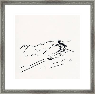 Skier IIi Framed Print by Winifred Kumpf