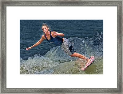 Skimmer Girl 2 Framed Print by Wade Aiken