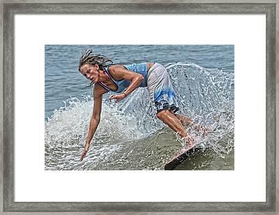 Skimmer Girl 3 Framed Print by Wade Aiken