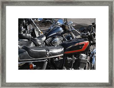 Skin Gasoline And Bikes Framed Print by Aleksandr Volkov