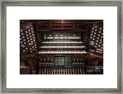 Skinner Pipe Organ Framed Print by Clarence Holmes