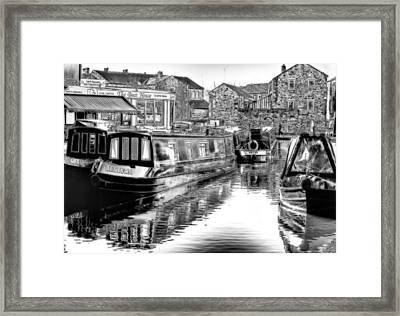 Skipton Canal Basin Framed Print by Trevor Kersley