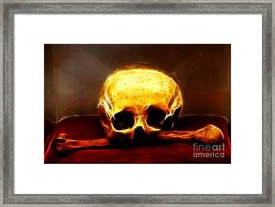 Skull And Bones Framed Print by Mariola Bitner
