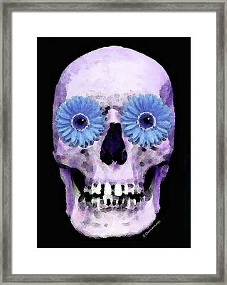 Skull Art - Day Of The Dead 3 Framed Print