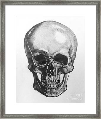 Skull Framed Print by Mack Galixtar