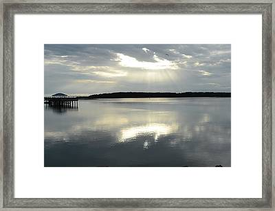 Skull Creek  Framed Print by Margaret Palmer