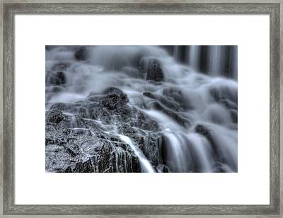 Skull On The Rocks Framed Print by Jeff Bord
