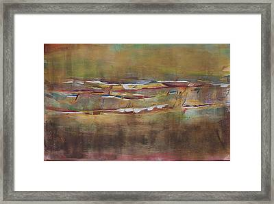Skulling Framed Print by Richard Willows