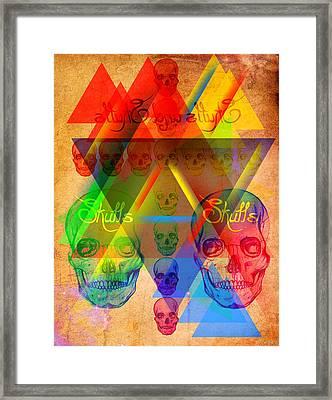Skulls And Skulls Framed Print by Kenal Louis