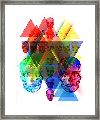 Skulls Illuminate Skulls Framed Print by Kenal Louis
