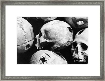 Skulls Showing Trepanation Framed Print by Science Source